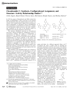 ChondramideC  Synthesis  Configurational Assignment  and StructureЦActivity Relationship Studies.
