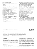 Chromatographic Resolution of Racemates. New analytical methods (17)