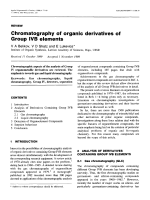 Chromatography of organic derivatives of group IVB elements.