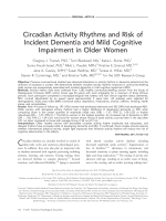 Circadian activity rhythms and risk of incident dementia and mild cognitive impairment in older women.