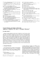 Circular Dichroism and Absolute Conformation  Application of Qualitative MO Theory to Chiroptical Phenomena.