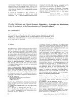 Circular Dichroism and Optical Rotatory Dispersion Ч Principles and Application to the Investigation of the Stereochemistry of Natural Products.