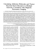 Circulating adhesion molecules and tumor necrosis factor receptor in multiple sclerosis  Correlation with magnetic resonance imaging.