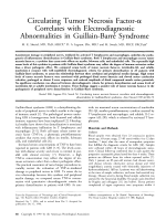 Circulating tumor necrosis factor- correlates with electrodiagnostic abnormalities in Guillain-Barr syndrome.