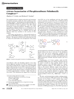 cistrans Isomerization of Phosphinesulfonate Palladium(II) Complexes.