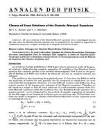 Classes of Exact Solutions of the Einstein-Maxwell Equations.