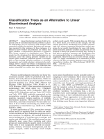 Classification trees as an alternative to linear discriminant analysis.