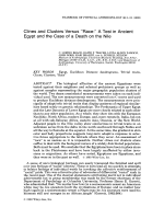 Clines and clusters versus УRace Ф a test in ancient Egypt and the case of a death on the Nile.