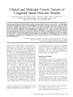 Clinical and molecular genetic features of congenital spinal muscular atrophy.