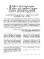 Clinical and virological analyses of 21 infants with exanthem subitum (roseola infantum) and central nervous system complications.