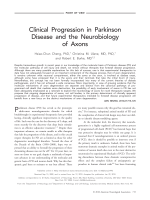 Clinical progression in Parkinson disease and the neurobiology of axons.