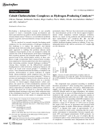 Cobalt Clathrochelate Complexes as Hydrogen-Producing Catalysts.