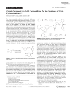 Cobalt-Catalyzed [4+2+2] Cycloaddition for the Synthesis of 1 3 6-Cyclooctatrienes.