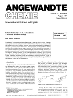 Cobalt-Mediated [2 + 2 + 2]-Cycloadditions  A Maturing Synthetic Strategy [New Synthetic Methods (43)].