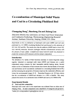 Co-combustion of Municipal Solid Waste and Coal in a Circulating Fluidized Bed.