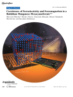 Coexistence of Ferroelectricity and Ferromagnetism in a Rubidium Manganese Hexacyanoferrate.