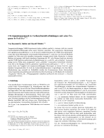 CO-Ligandenaustausch in Carbonylmetallverbindungen und seine Frequenz in Fe(CO)5.
