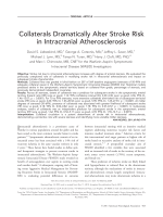Collaterals dramatically alter stroke risk in intracranial atherosclerosis.