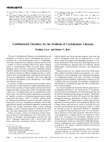 Combinatorial Chemistry for the Synthesis of Carbohydrate Libraries.