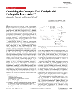 Combining the Concepts  Dual Catalysis with Carbophilic Lewis Acids.