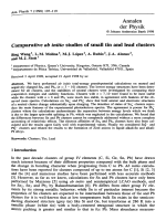 Comparative ab initio studies of small tin and lead clusters.