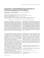 Comparison of dental measurement systems for taxonomic assignment of first molars.