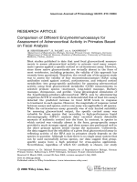 Comparison of different enzymeimmunoassays for assessment of adrenocortical activity in primates based on fecal analysis.