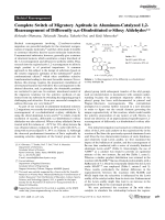 Complete Switch of Migratory Aptitude in Aluminum-Catalyzed 1 2-Rearrangement of Differently  -Disubstituted -Siloxy Aldehydes.