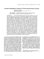 Complex segregation analysis of dental morphological variants.