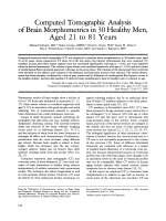 Computed tomographic analysis of brain morphometrics in 30 healthy men  aged 21 to 81 years.