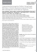 Computerized neurocognitive profile in young people with 22q11.2 deletion syndrome compared to youths with schizophrenia and At-Risk for psychosis