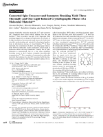 Concerted Spin Crossover and Symmetry Breaking Yield Three Thermally and One Light-Induced Crystallographic Phases of a Molecular Material.