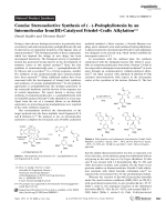 Concise Stereoselective Synthesis of ()-Podophyllotoxin by an Intermolecular Iron(III)-Catalyzed FriedelЦCrafts Alkylation.