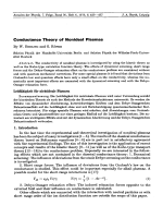 Conductance Theory of Nonideal Plasmas.