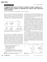 Configurational Control of Benzyl CarbanionЦCopper Complexes by Sulfinyl Groups  Synthesis of Optically Pure Allenes with Central and Axial Chirality.