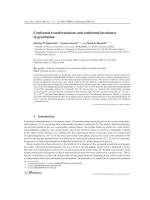 Conformal transformations and conformal invariance in gravitation.