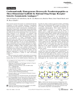 Conformationally Homogeneous Heterocyclic Pseudotetrapeptides as Three-Dimensional Scaffolds for Rational Drug Design  Receptor-Selective Somatostatin Analogues.