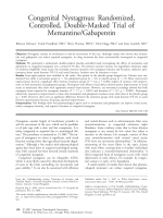 Congenital nystagmus  Randomized  controlled  double-masked trial of memantinegabapentin.