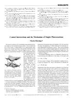 Conical Intersections and the Mechanism of Singlet Photoreactions.