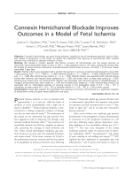 Connexin hemichannel blockade improves outcomes in a model of fetal ischemia.