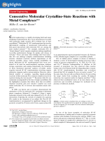 Consecutive Molecular Crystalline-State Reactions with Metal Complexes.