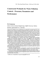 Constructed Wetlands for Water Pollution Control - Processes  Parameters and Performance.