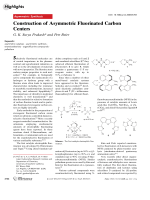 Construction of Asymmetric Fluorinated Carbon Centers.