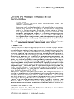 Contexts and messages in macaque social communication.