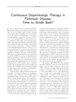 Continuous dopaminergic therapy in Parkinson disease  Time to stride back.