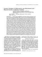 Contour analysis of masticatory jaw movements and muscle activity in Macaca mulatta.