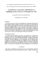 Contribution to the study of mechanism of stabilizing action of esters of phosphorous acid.