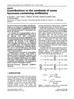 Contributions to the synthesis of some ferrocene-containing antibiotics.