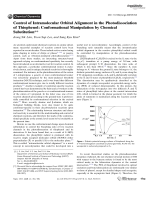 Control of Intramolecular Orbital Alignment in the Photodissociation of Thiophenol  Conformational Manipulation by Chemical Substitution.