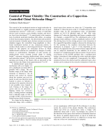 Control of Planar Chirality  The Construction of a Copper-Ion-Controlled Chiral Molecular Hinge.